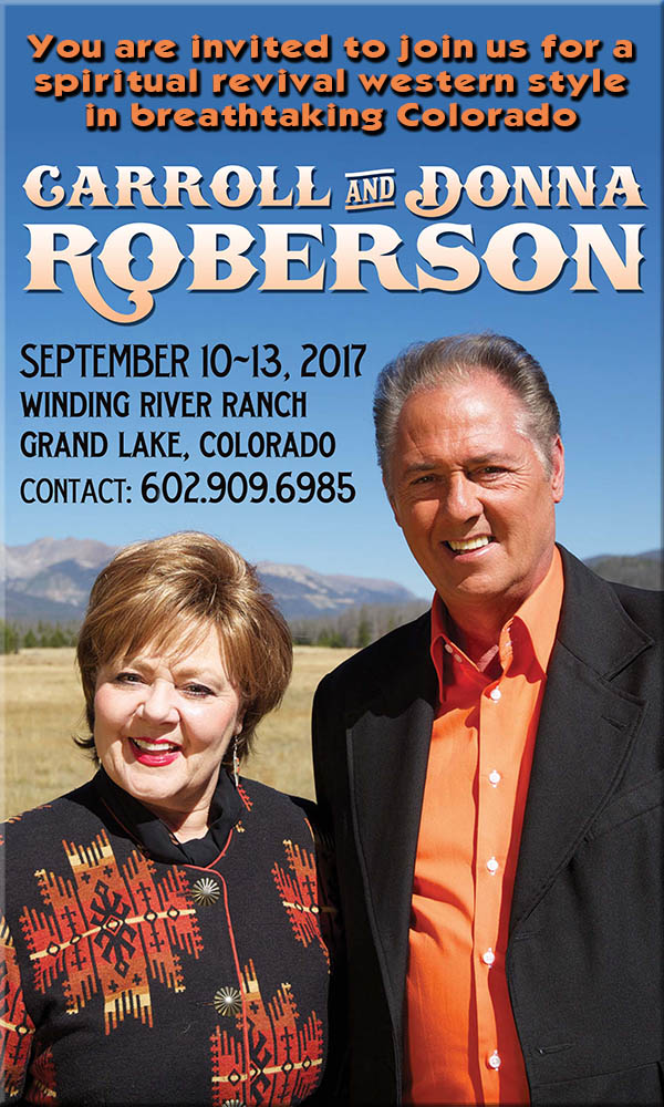 You are invited to join us for a spiritual revival western style in breathtaking Colorado!